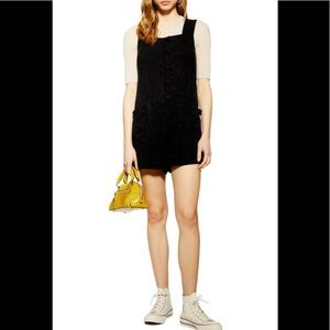 NEW TOPSHOP Black Sleeveless Romper-Size 4